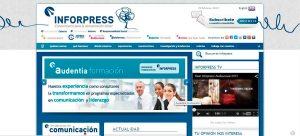 Web de Inforpress antes del cambio